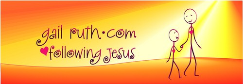 Link to GailRuth.com, Following Jesus, my new website